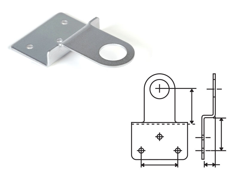 Cabinet Hasp for Overlay Solid Doors