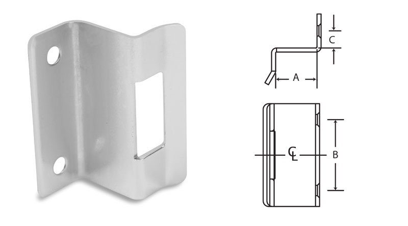 Double Solid Strike Plate