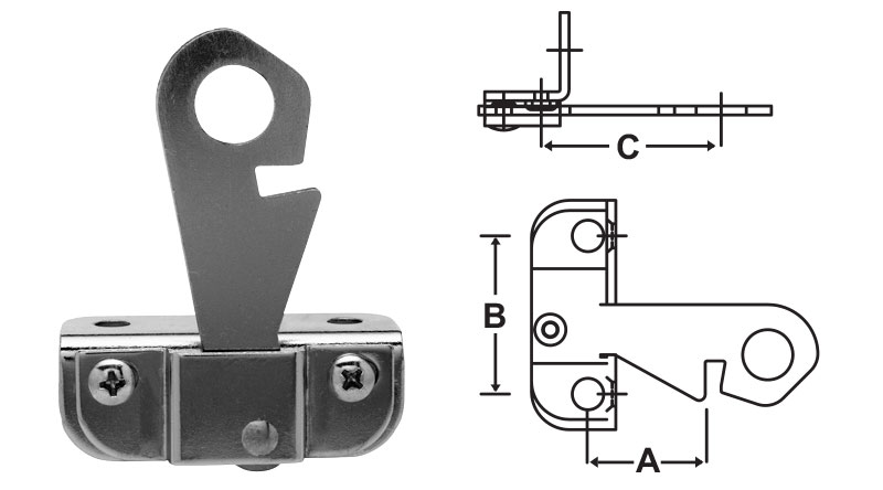 Double Solid Door Latch