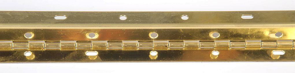 RPC bright brass continuous hinge